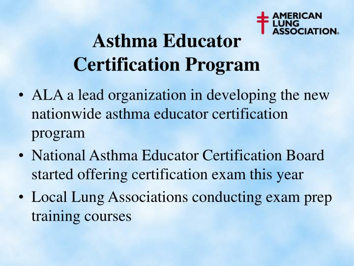 Asthma Educator