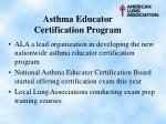 asthma educator certification program