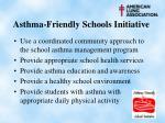 asthma friendly schools initiative