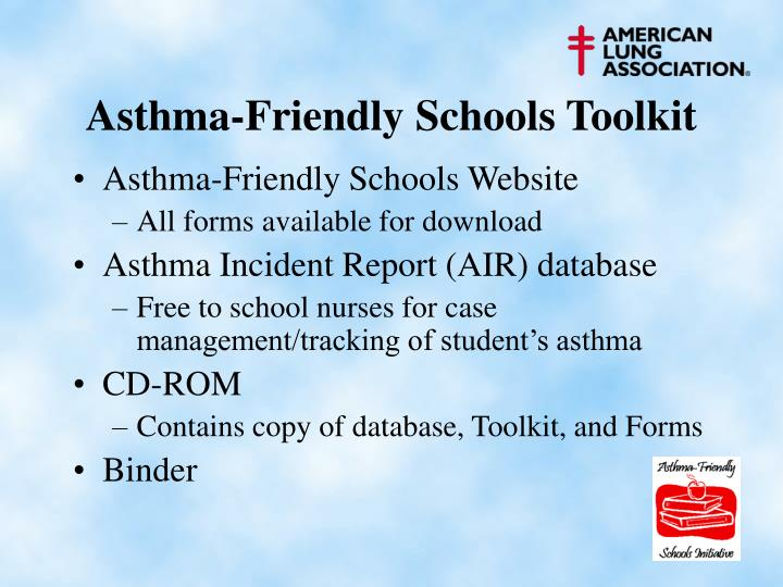 Asthma-Friendly Schools Toolkit