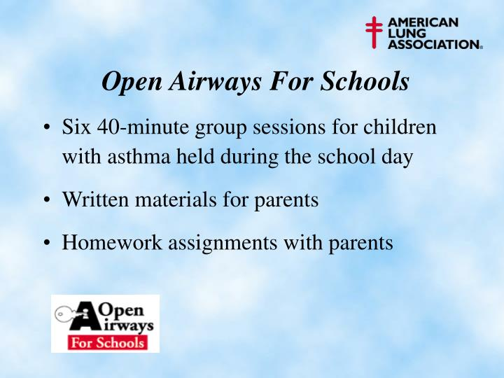 Open Airways For Schools