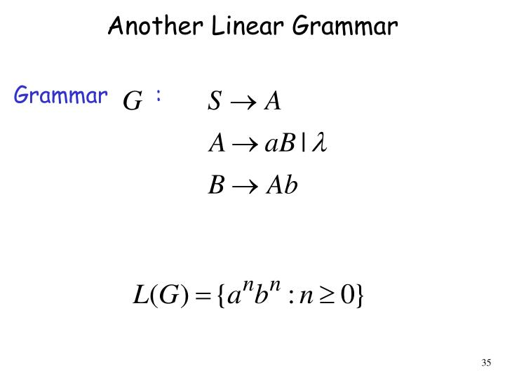 Another Linear Grammar