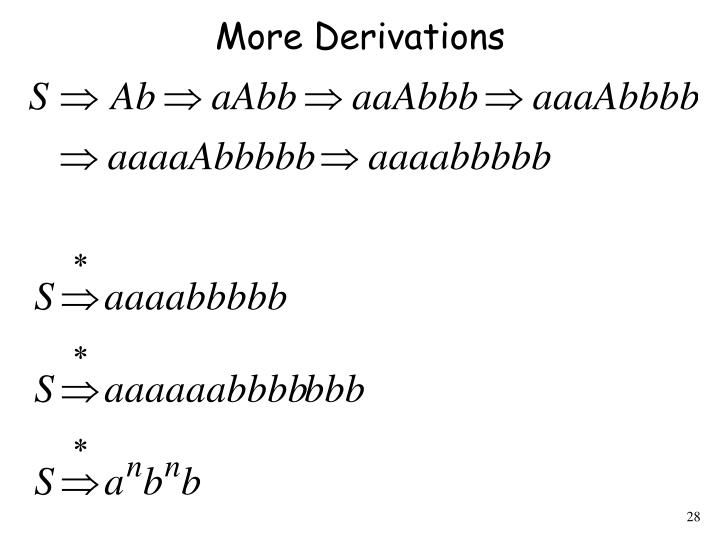 More Derivations