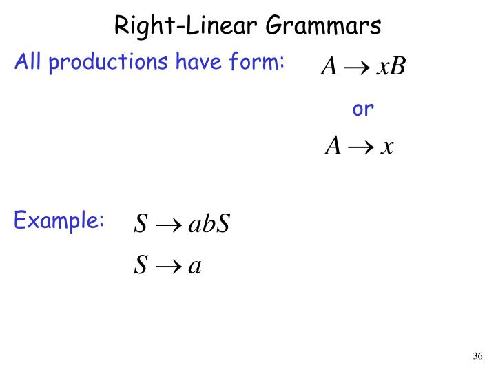 Right-Linear Grammars