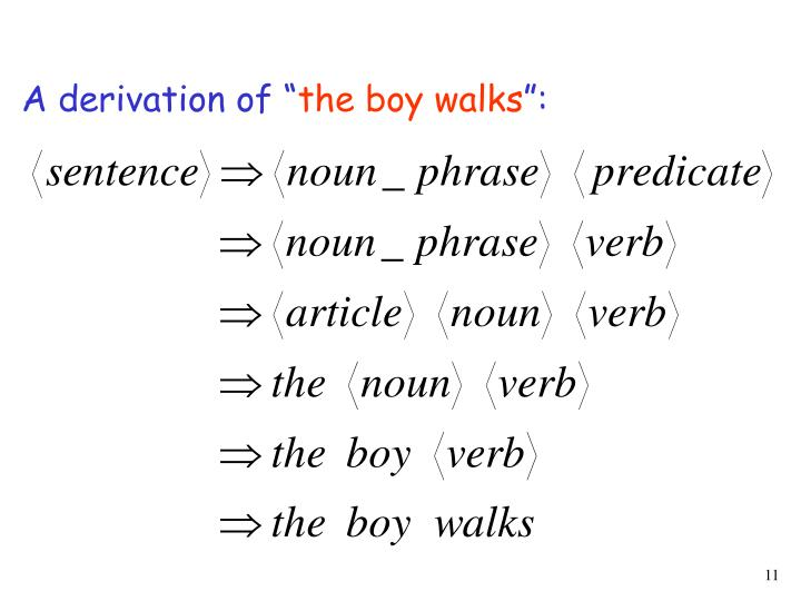 A derivation of ""