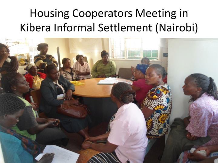 Housing Cooperators Meeting in