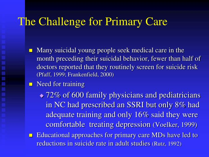 The Challenge for Primary Care