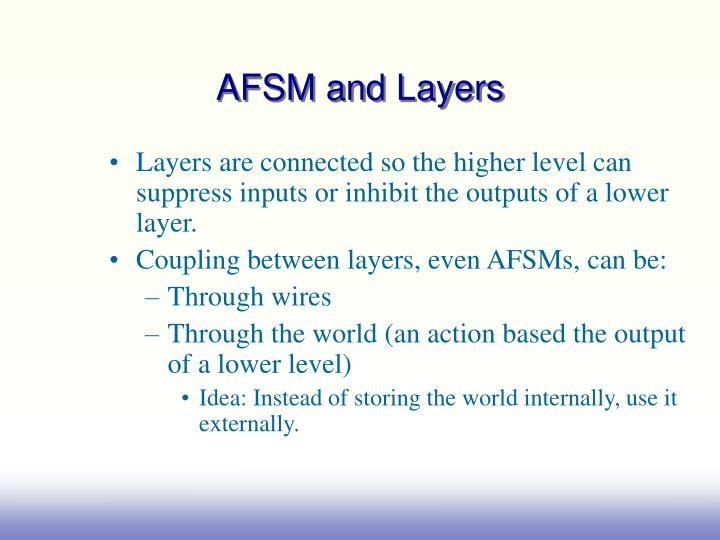 AFSM and Layers