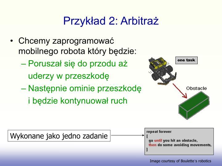 Przykład 2: Arbitraż