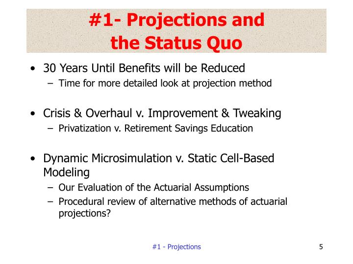 #1- Projections and