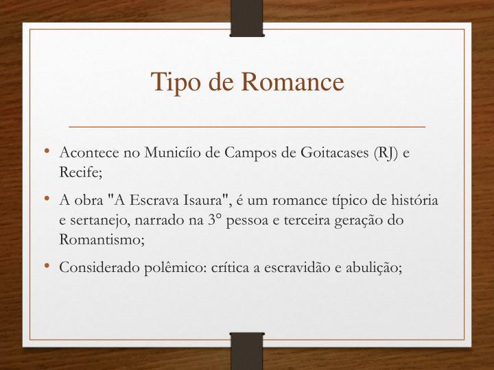 Tipo de Romance