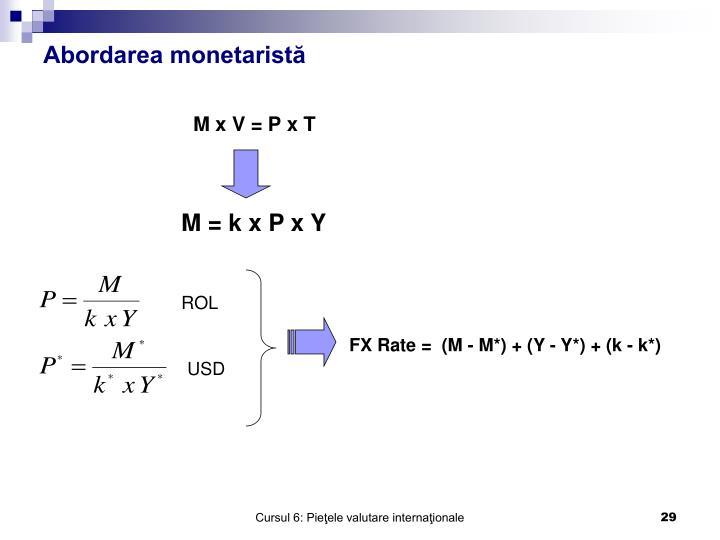 Abordarea monetaristă