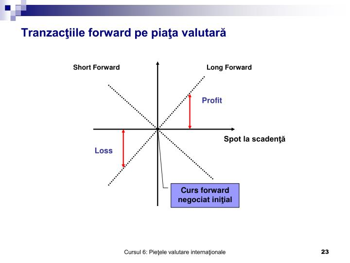 Tranzacţiile forward pe piaţa valutară