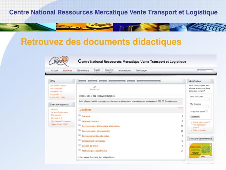 Retrouvez des documents didactiques