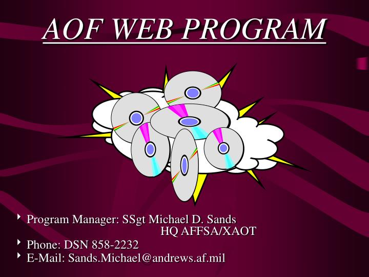 Aof web program