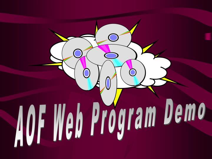 AOF Web Program Demo