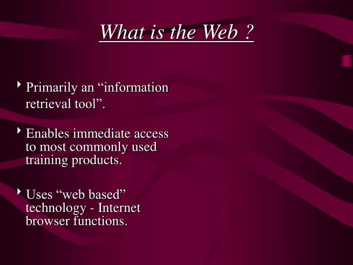 What is the Web ?