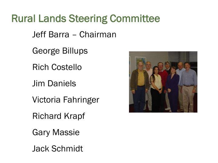 Rural Lands Steering Committee