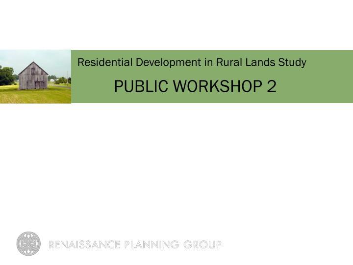Residential Development in Rural Lands
