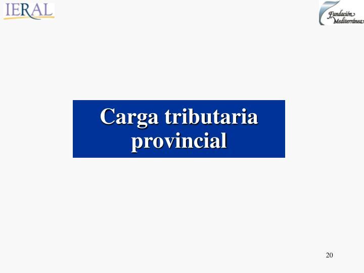 Carga tributaria provincial