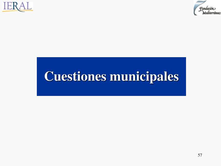 Cuestiones municipales