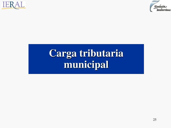 Carga tributaria municipal