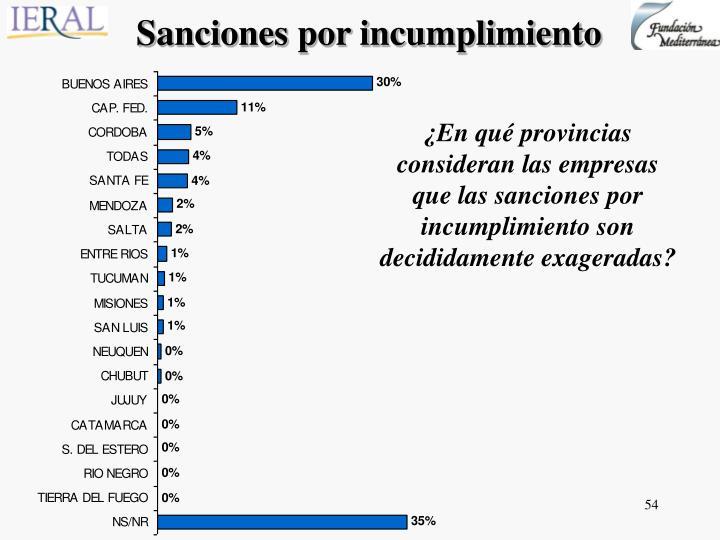 Sanciones por incumplimiento