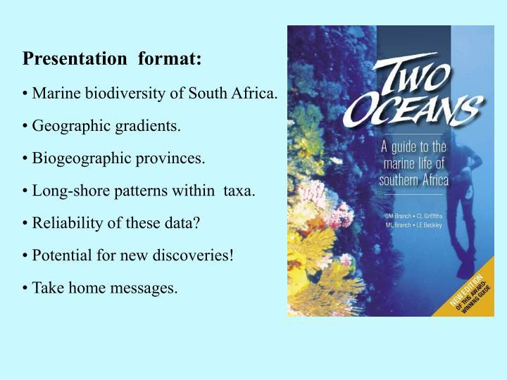 Presentation  format: