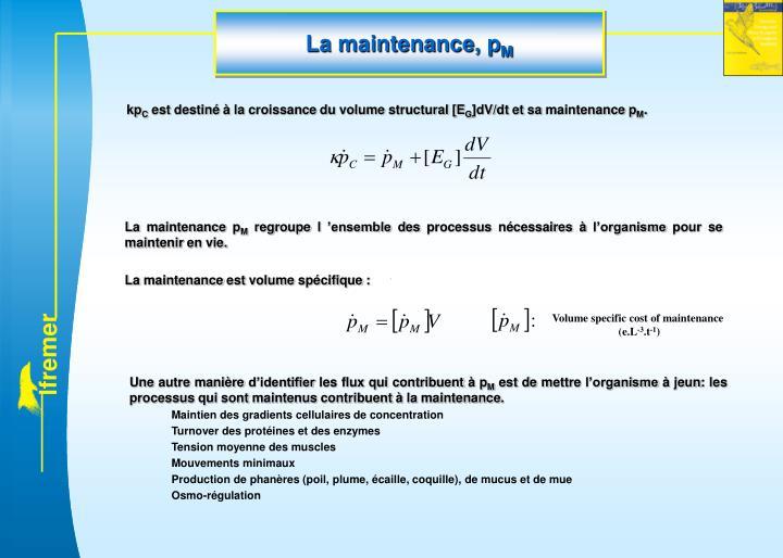 La maintenance, p