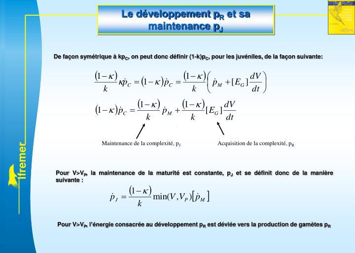Le développement p