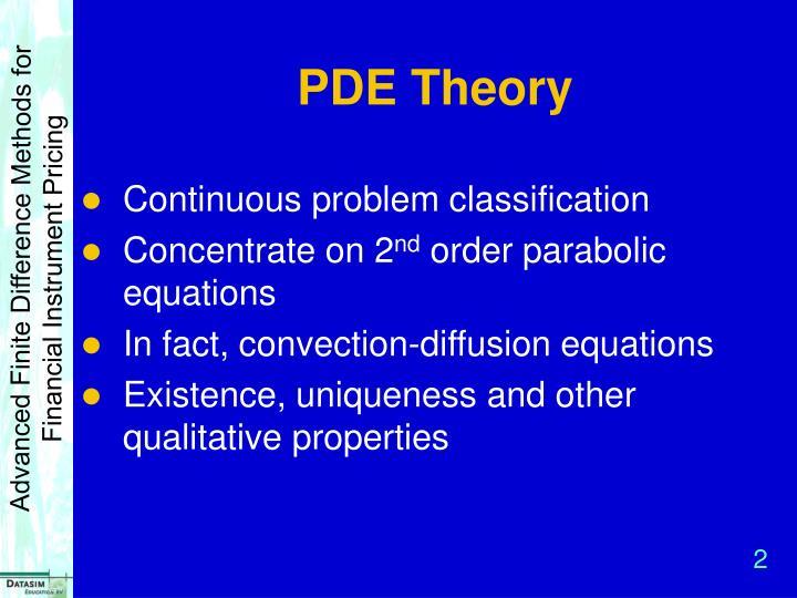 PDE Theory
