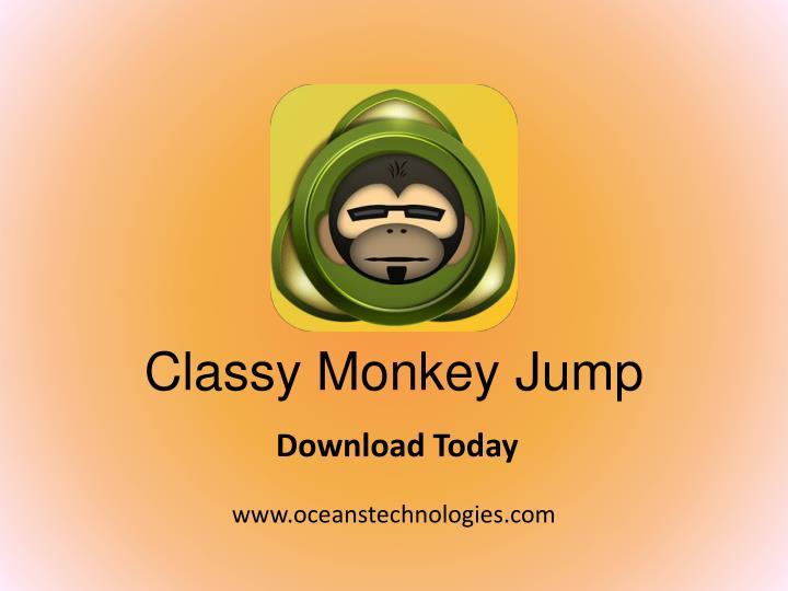 Classy Monkey Jump