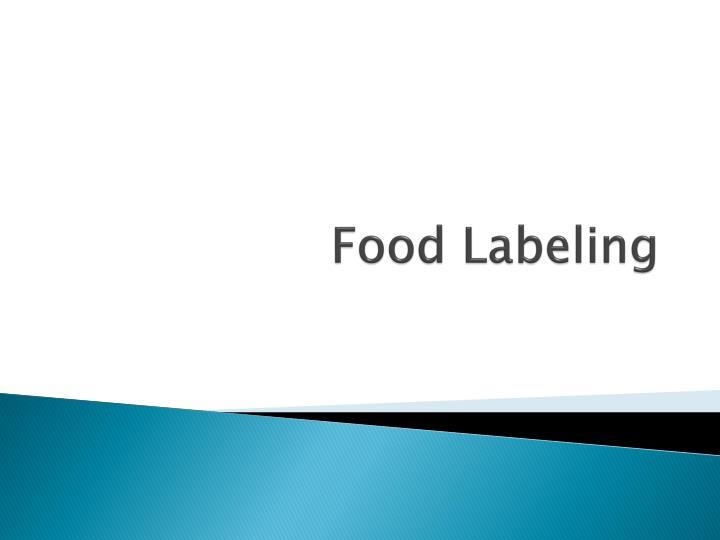 Food Labeling