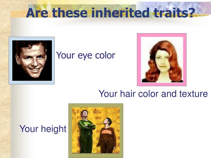 Are these inherited traits?