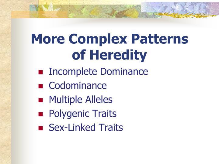 More Complex Patterns