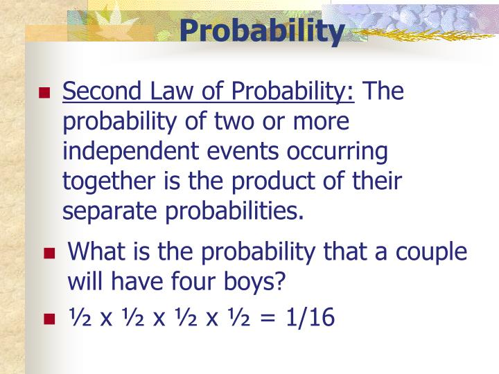 Second Law of Probability: