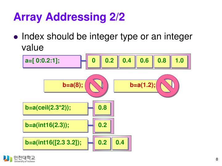 Array Addressing 2/2