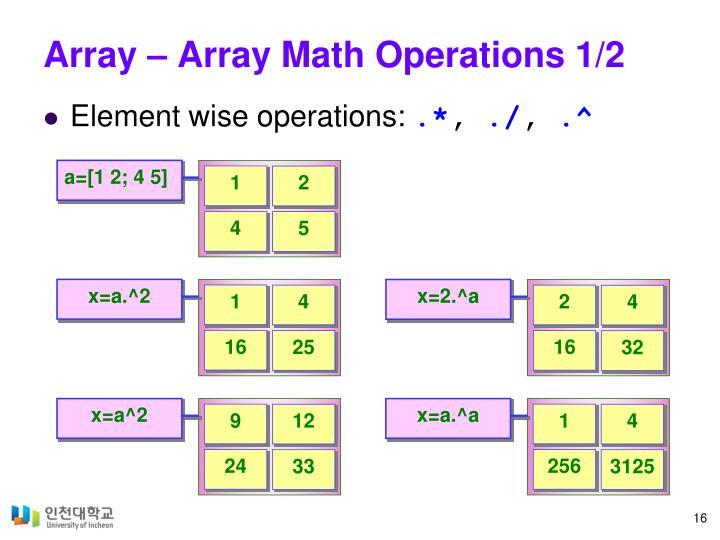 Array – Array Math Operations 1/2