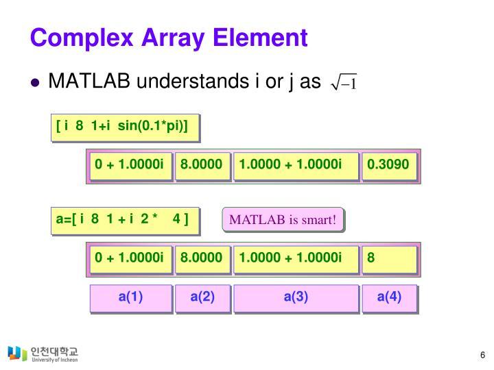 Complex Array Element