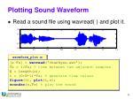 plotting sound waveform