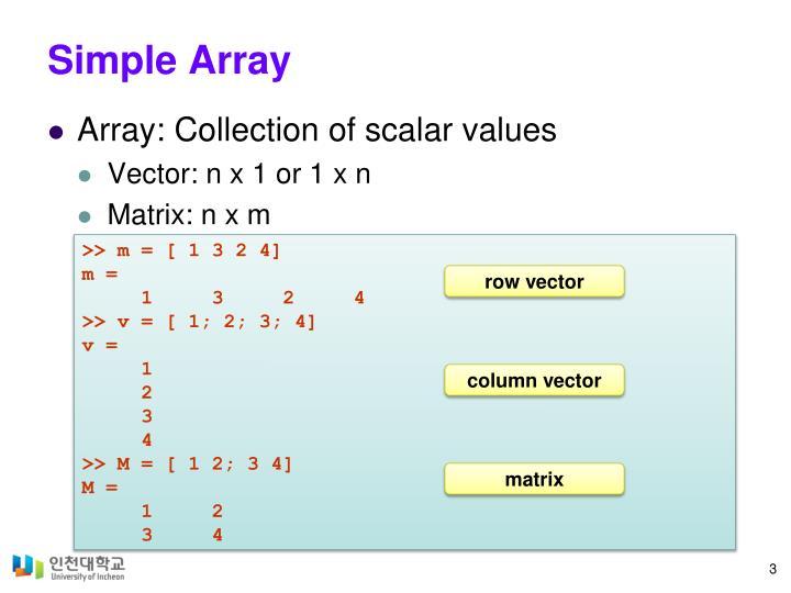 Simple Array