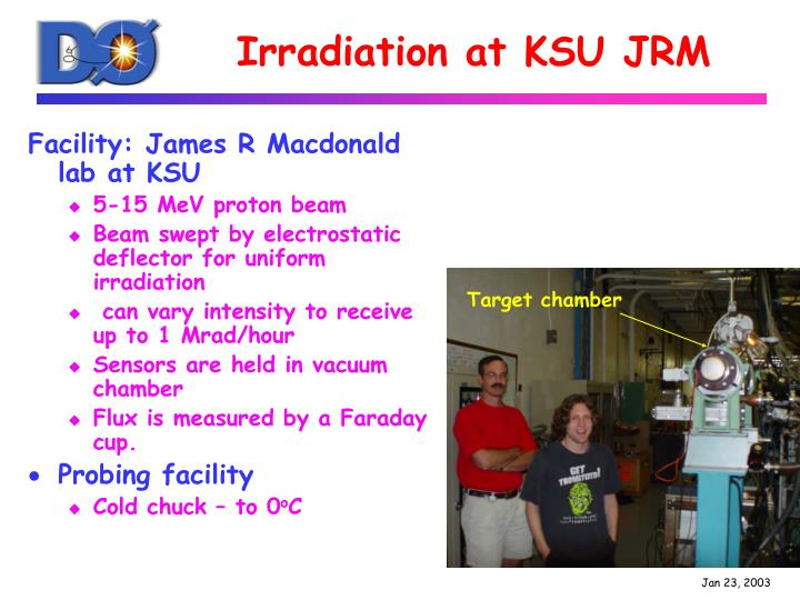 Irradiation at ksu jrm