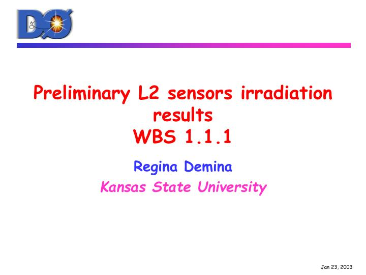 Preliminary L2 sensors irradiation results