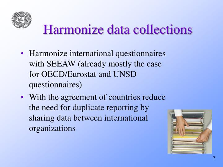 Harmonize data collections