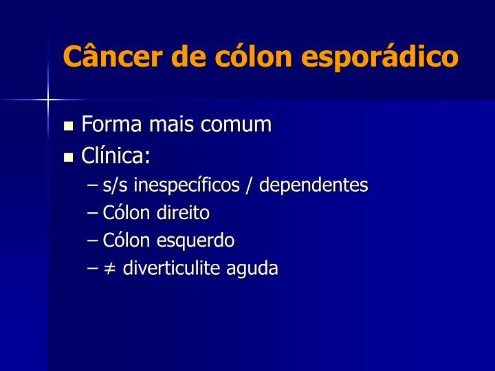 Câncer de cólon esporádico