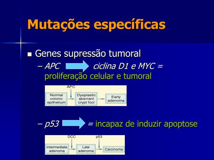 Mutações específicas