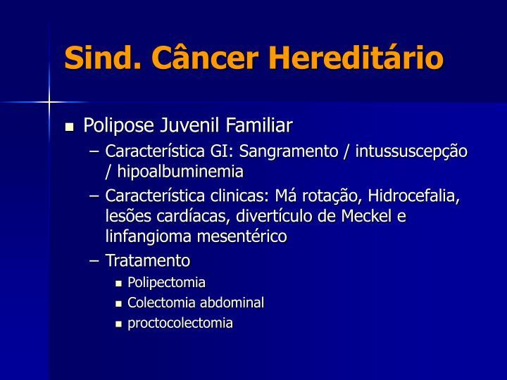 Sind. Câncer Hereditário