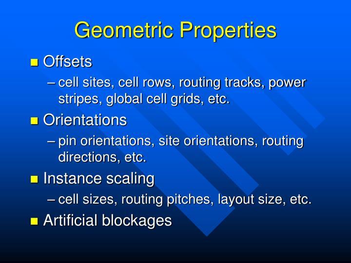 Geometric Properties