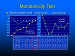 monotonicity test