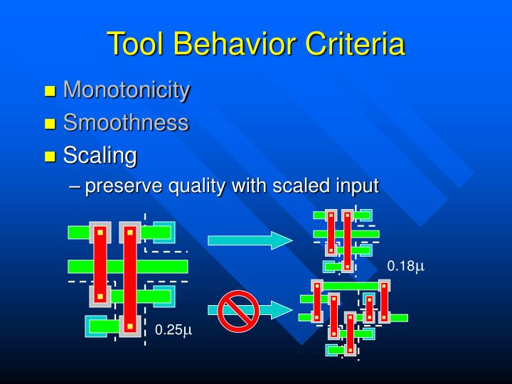 Tool Behavior Criteria